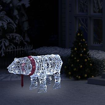 vidaXL Luzes de Natal Decoração Urso 45 LEDs 71x20x38 cm Acrílico