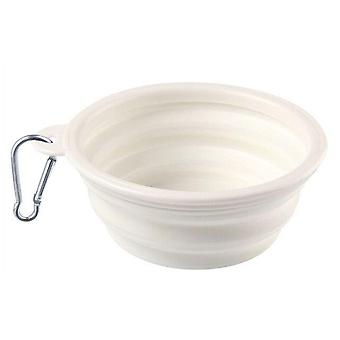 Portable Travel Bowl Dog Pet Feeder Accessories, Silicone Water Food Container