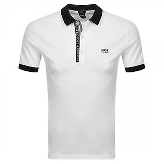 Boss Green Hugo Boss Paule 4 Logo Short Sleeve Polo White 103 50399185