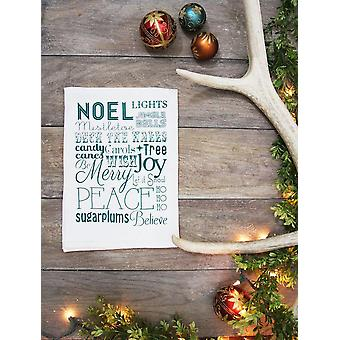 Christmas Words Kitchen Towel
