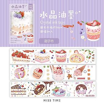 Crystal Ink Series Pet Washi Tape, Cute Decorative Adhesive Tape