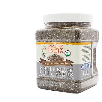 Organic Black Chia Seeds Omega-3 & Calcium Superfood Jar