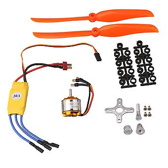 A2212 10T 1400KV Brushless Motor 30A ESC Propeller for RC Airplane Parts