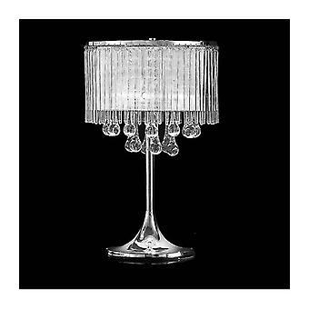 Verchromte Spirit Crystal Tischlampe 3 Glühbirnen