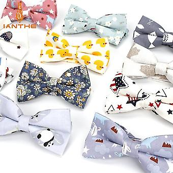 Mænd & apos;s justerbar formel bomuld Vintage Animal Print Butterfly Butterfly Bowtie