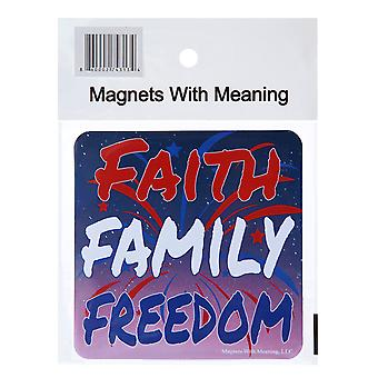 Faith Family Freedom Refrigerator Magnet