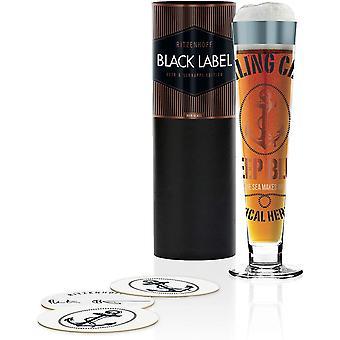RITZENHOFF Black Label Ruth Berktold Crystal Beer Glass 300ml