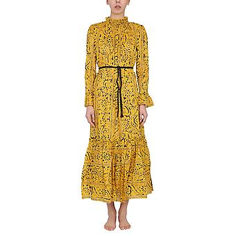 Zimmermann 9333dlluyepr Women's Yellow Cotton Dress