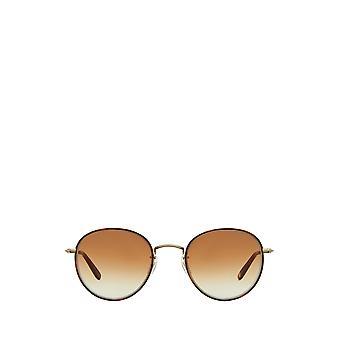 Garrett Leight PALOMA SUN marigold-brushed gold unisex sunglasses