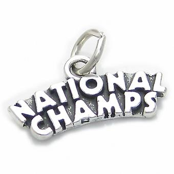 National Champs Sterling Silver Charm .925 X 1 Winners Charms - 4026