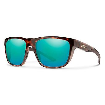 Smith Barra 086/QG Dark Havana/Blue Mirror Sunglasses
