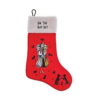 Disney Cruella De Vil 'On The Bad List' Christmas Stocking