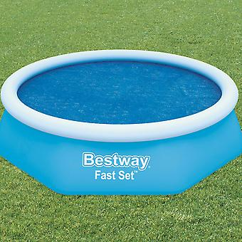 Bestway Flowclear Above Ground Fast Set 8ft Solar Swimming Pool Cover