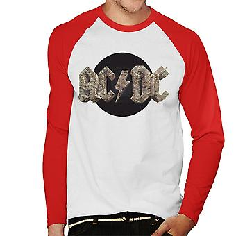 AC/DC Rock Logo Men's Baseball Long Sleeved T-Shirt