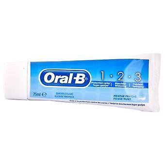 Pâte dentaire Oral B 1-2-3 Menthe fraîche 75 ml