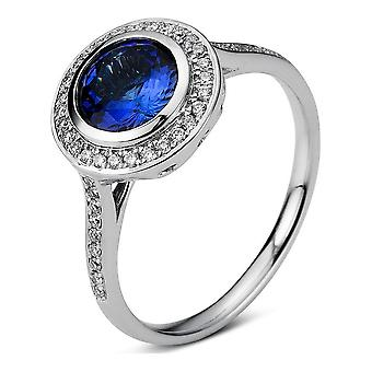 Luna Creation Populariteit Ring Kleur Steen 1D642W854-1 - Ringbreedte: 54