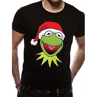 The Muppets Unisex Adult Kermit Xmas Hat Christmas T-Shirt
