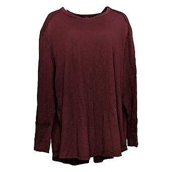 All Worthy Hunter McGrady Women's Plus Top Long-Sleeve Shirt Brown A384588