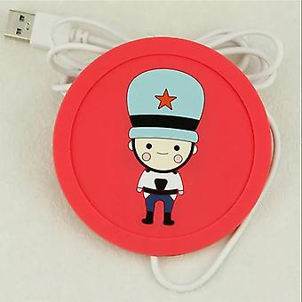 Usb Warmer Gadget Cartoon Silicone Thin Cup-pad / Koffie Thee Drinken Usb Heater