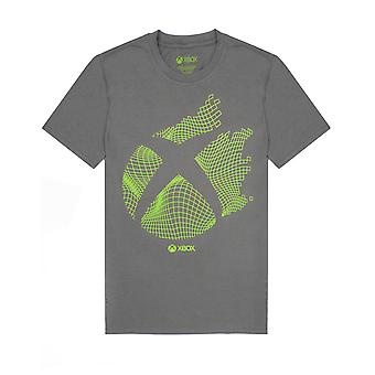 XBOX T-Shirt For Men | Adults Charcoal Gamer Top | Short Sleeve XBOX Gaming Console Logo Gift Merchandise