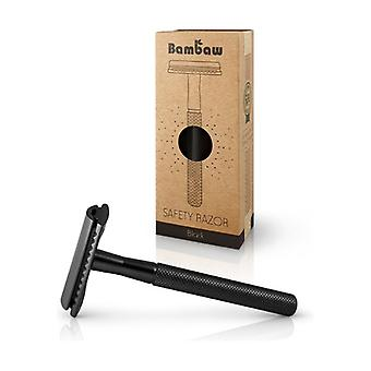 Black stainless steel razor 1 unit