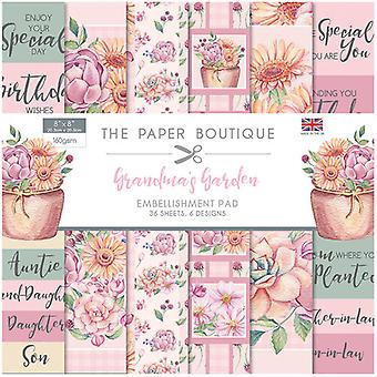 The Paper Boutique - Grandma's Garden Collection - 8x8 Embellishments Pad