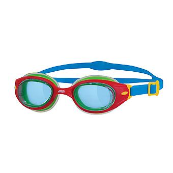 Zoggs Little Sonic Air Swim Goggle 0-6yrs- Clear Lens-Red/Green Frame