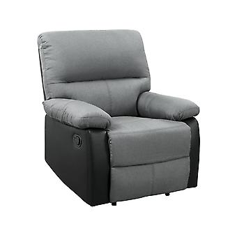Lincoln Reclining Chair - Nero/Grigio Scuro