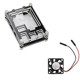 Couvercle acrylique de coquille de caisse de boîte avec le ventilateur de refroidissement