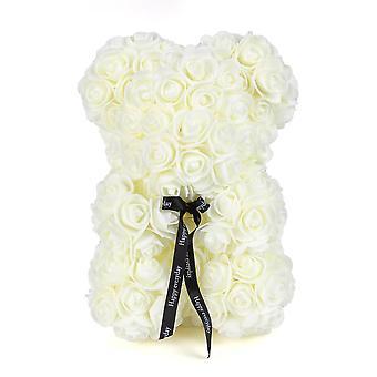 """יום האהבה 25 ס""""מ ורד אדום דובון קצף פרח מלאכותי Bea"""