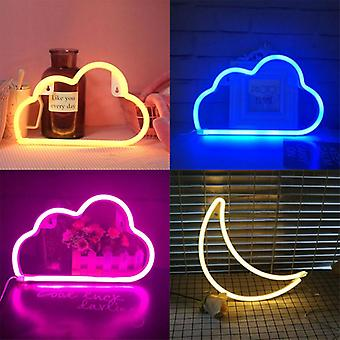 Led Cloud Design Neon Sign Night Valotaide Koristeellinen Muovi Seinävalaisin Vauva