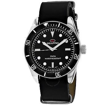Seapro Revival Quartz Black Dial Men's Watch SP0302