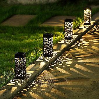 Led aurinkovalo puutarha koristelu nurmikko lamppu ulkokoti polku polttimo valaisin anturi vedenpitävä Solar Street lamppu aurinkovalot