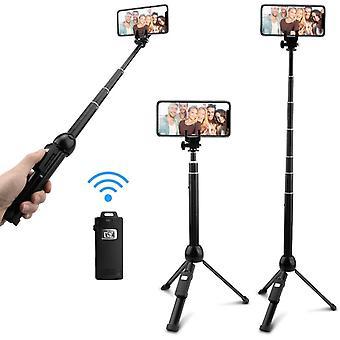 HanFei Stativ Tisch Selfie Stick mit Bluetooth Kabelloser Fernbedienung, 7 Abschnitte Monopod fr