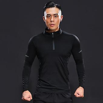 Bodybuilding Hombre Compresión Fitness Running Camisetas
