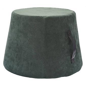 hocker 45 x 35 cm Samt/Polyurethan grün