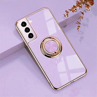 Samsung Galaxy S21 Ultra Luksus Stilfuld Shell med Ring Stand Feature Gold