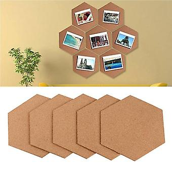 Home Wood Photo Background, Hexagon Stickers, Self-adhesive Cork Board Tiles,