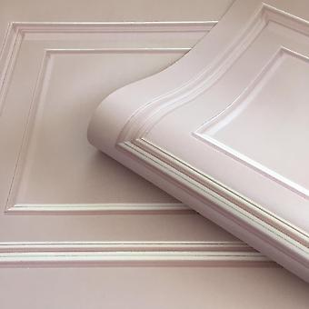 Soft Pink Amara Panel Wallpaper