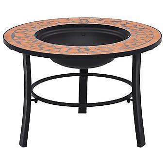 vidaXl mosaïque de foyer en terre cuite 68 cm céramique