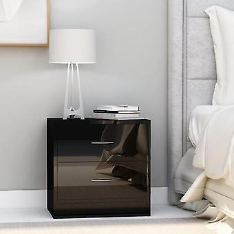 vidaXL Table de chevet noir brillant 40 x 30 x 40 cm Panneau de particules
