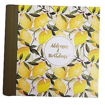 L'adresse de citron Artfile et livre d'anniversaire