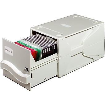 525610 Multimedia Box für CDs und Disketten, abschließbar und erweiterbar, grau