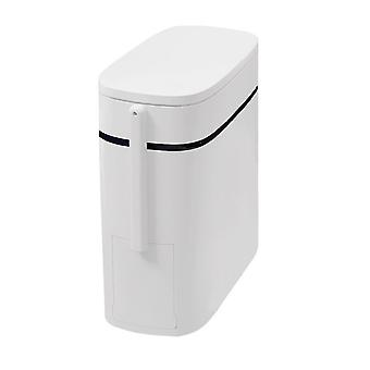 Homemiyn Waterproof And Odor-resistant Push-type Trash Can 14l Special For Toilet With Toilet Brush