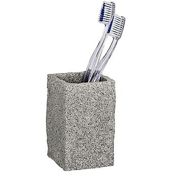 FengChun Zahnputzbecher Granit, Zahnbrstenhalter fr das Badezimmer, Becher aus Kunststoff in