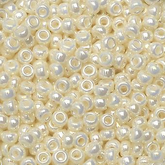 Miyuki runda fröpärlor, 8/0, 22 Gram Tube, #9591 Pearl Ceylon