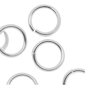 JUMPLOCK Jump Rings, Round 8mm 16 Gauge, 10 Pieces, Sterling Silver