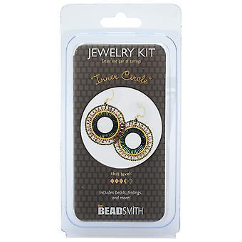 The Beadsmith Jewelry Kit, Inner Circle Earrings, 1 Kit