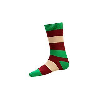 House of Cheviot Gents Bold Stripe Short Socks ~ Emerald
