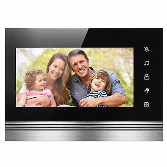 Ekran dotykowy 7-calowy monitor wewnętrzny praca dla przewodowego domowego wideomofonu